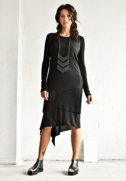 Asymmetric Long Sleeve Layer Dress A90300