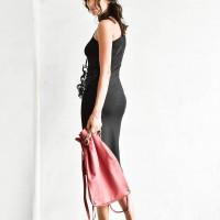 Women One Shoulder Long Sleeve Body con Dress A90330