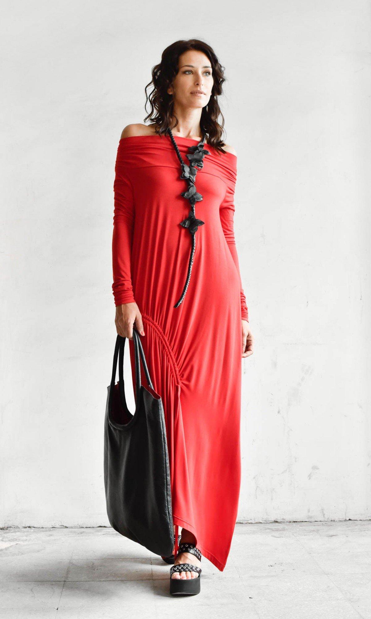 Off The Shoulder Asymmetric Dress A90345
