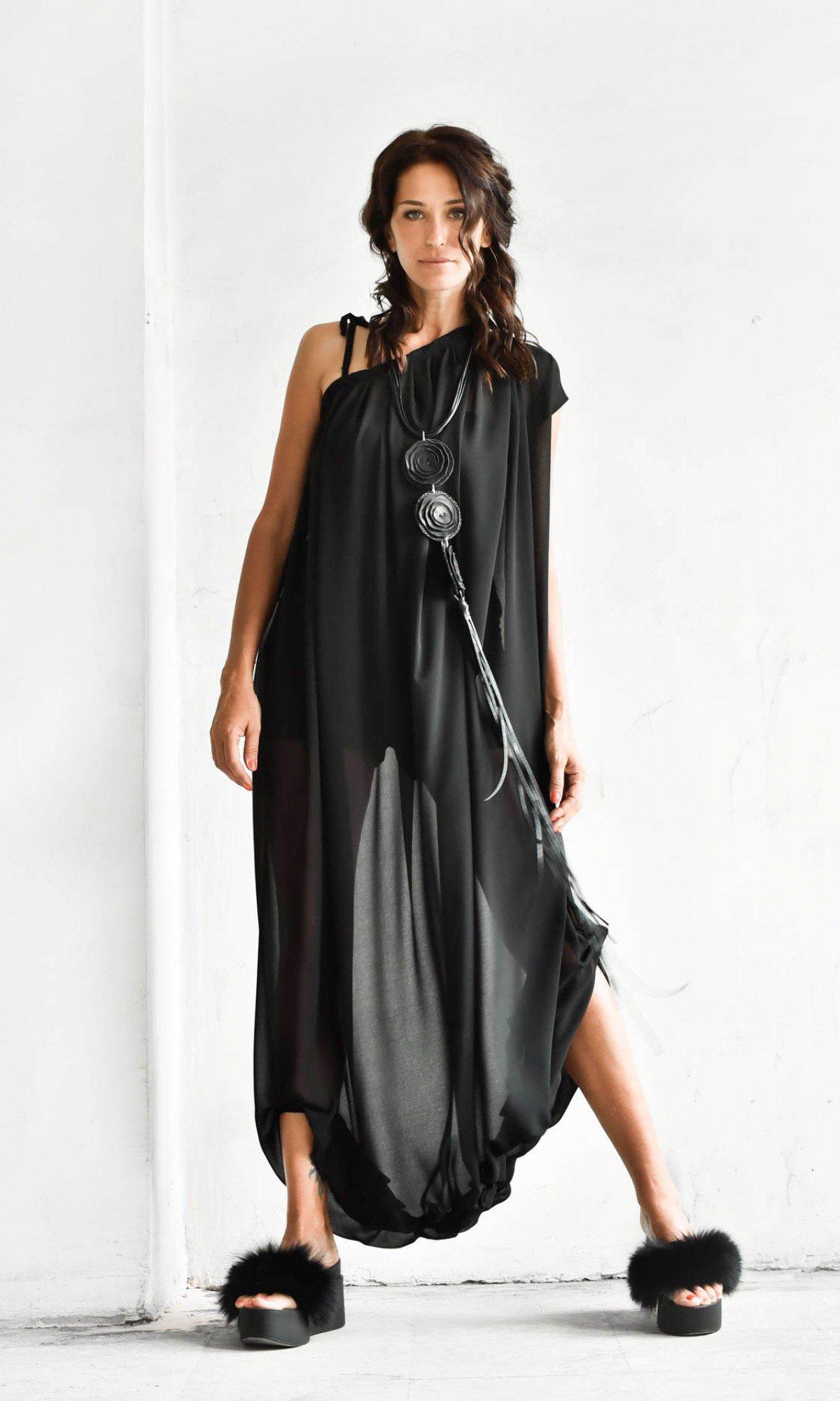 Off Shoulder Adjustable Tunic Dress A02031
