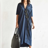 Elegant Short Sleeve Maxi Dress A90366