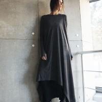 Stylish extra long tunic dress  A90389