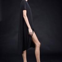 Asymmetric Long Sleeve Layer Dress A90410