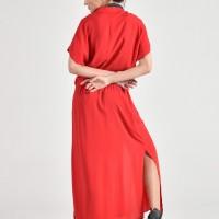 Hot Elastic Waist Maxi Dress A90418