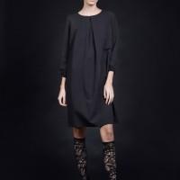 Elegant Straight Midi Sleeves Dress A90423