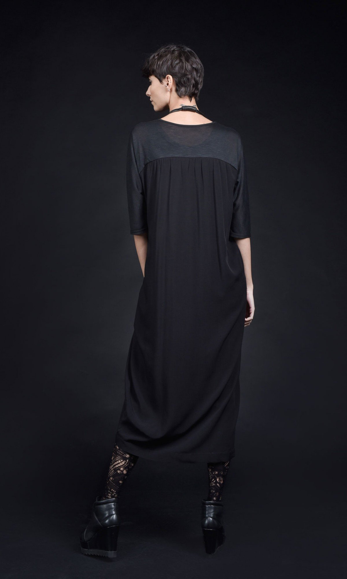 Elegant Straight Short Sleeve Tunic dress A90427