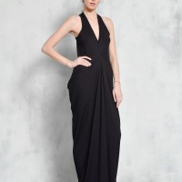 Very Elegant Racer Back Draped Dress A90437