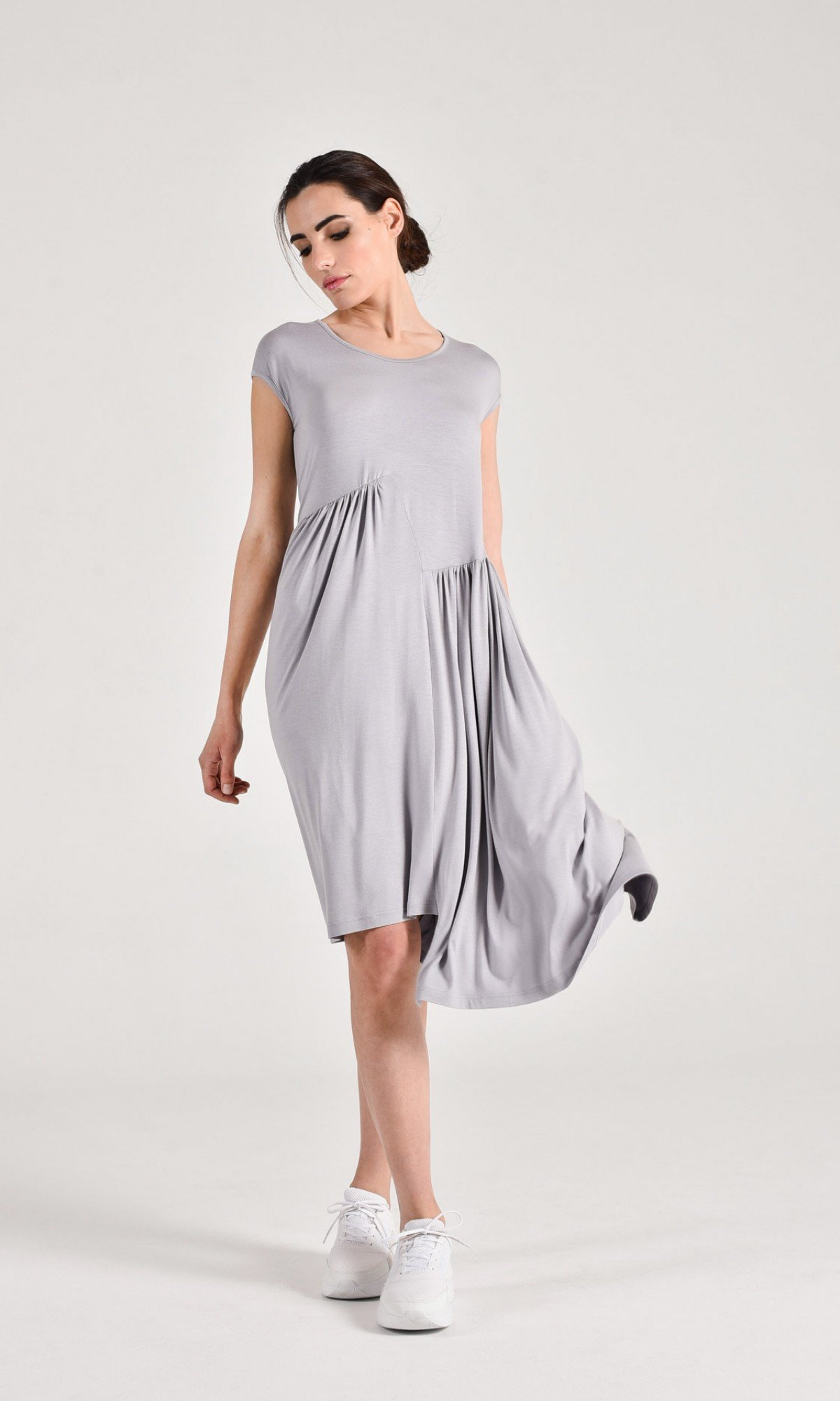 Draped Mid Length Dress