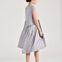 Draped mid lenght dress A90449