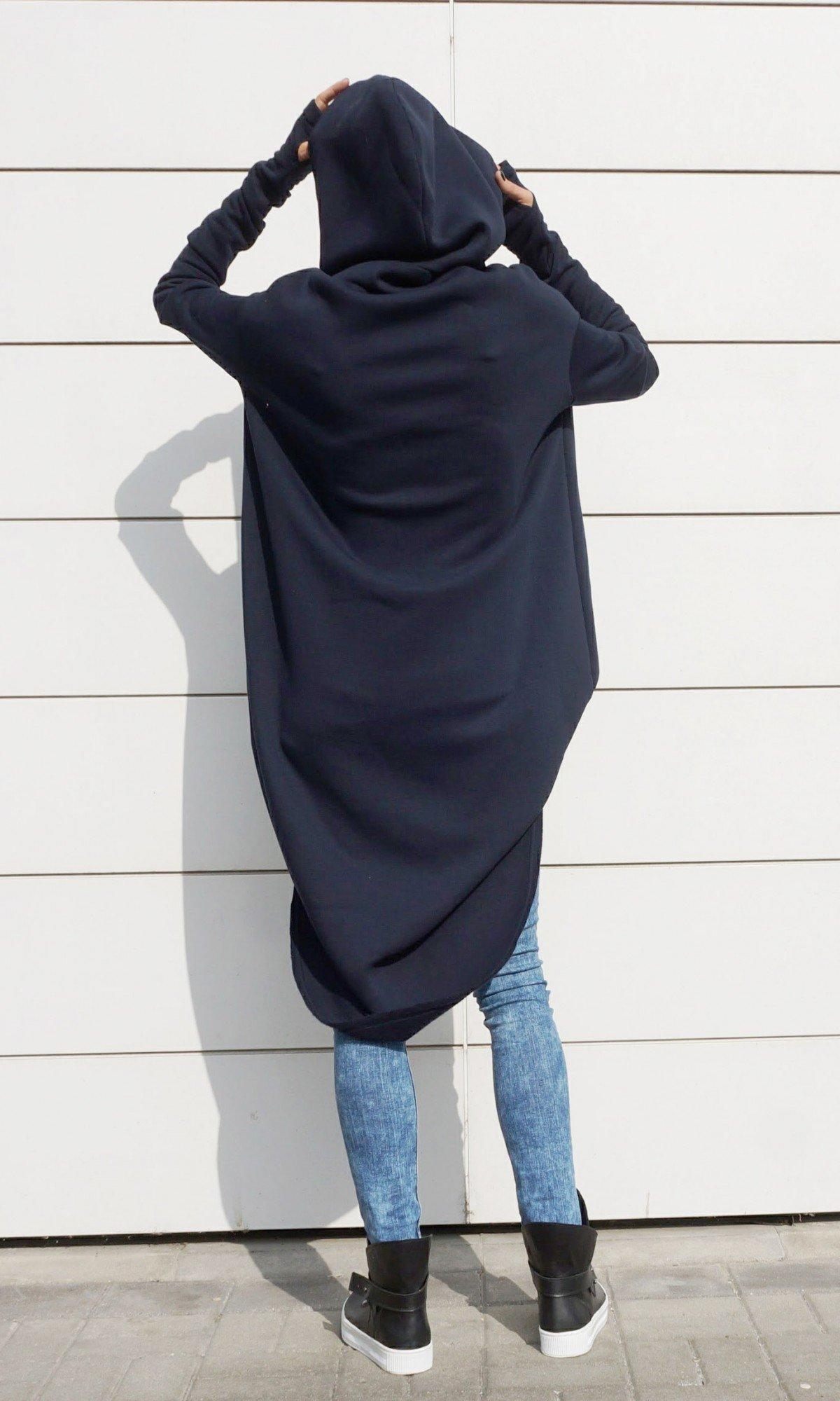 Maxi Asymmetric Hoodie A08023