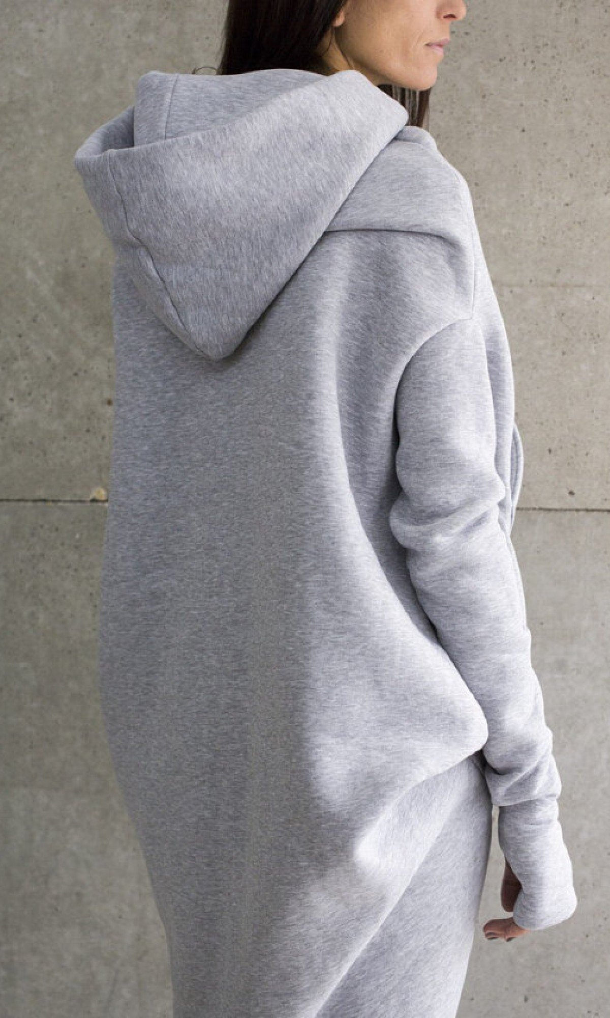 Maxi Asymmetric Hoodie