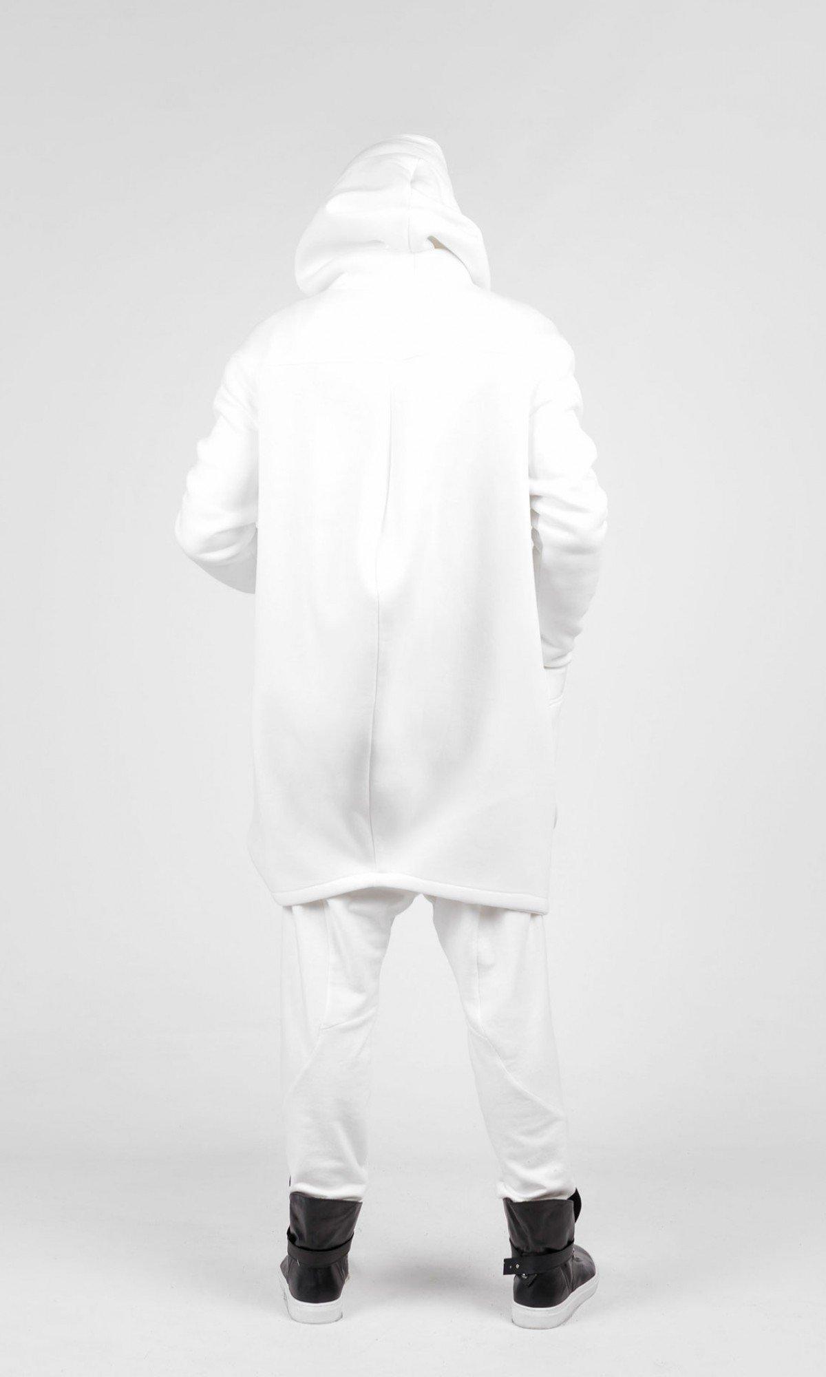 Asymmetric Hooded Coat A07177M