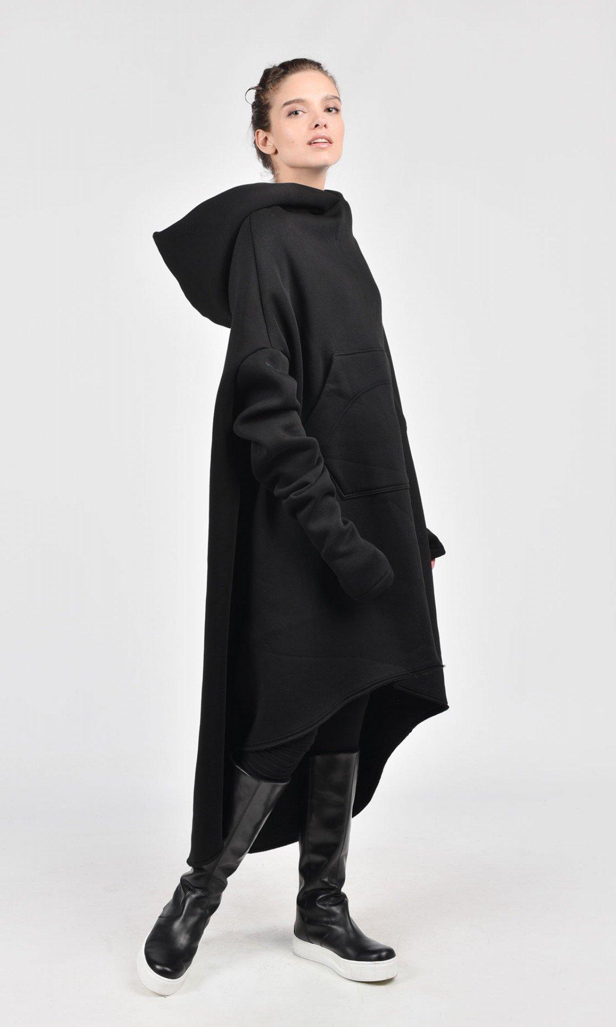 Asymmetric Maxi Hoodie A08022