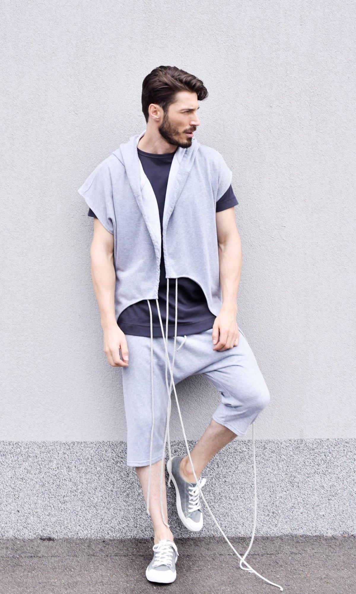 Asymmetric Cotton Sleeveless Coat