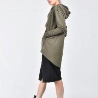 Extravagant Asymmetric Cotton Hooded Sweatshirt A08533