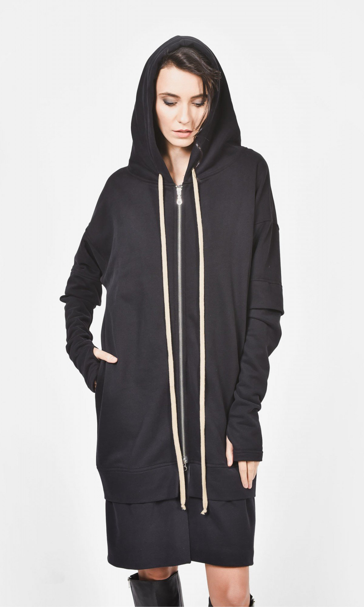 Extra Long Maxi Hoodie A08625