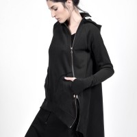 Extravagant Asymmetric Zipper Hoodie A90471