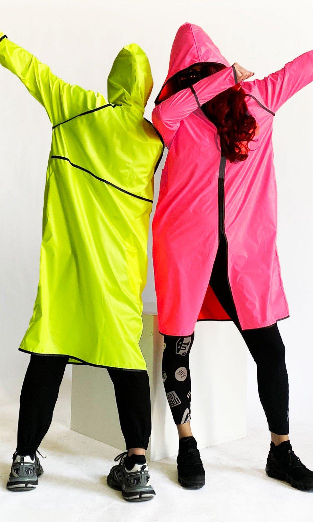 Neon Waterproof & Windproof Raincoat