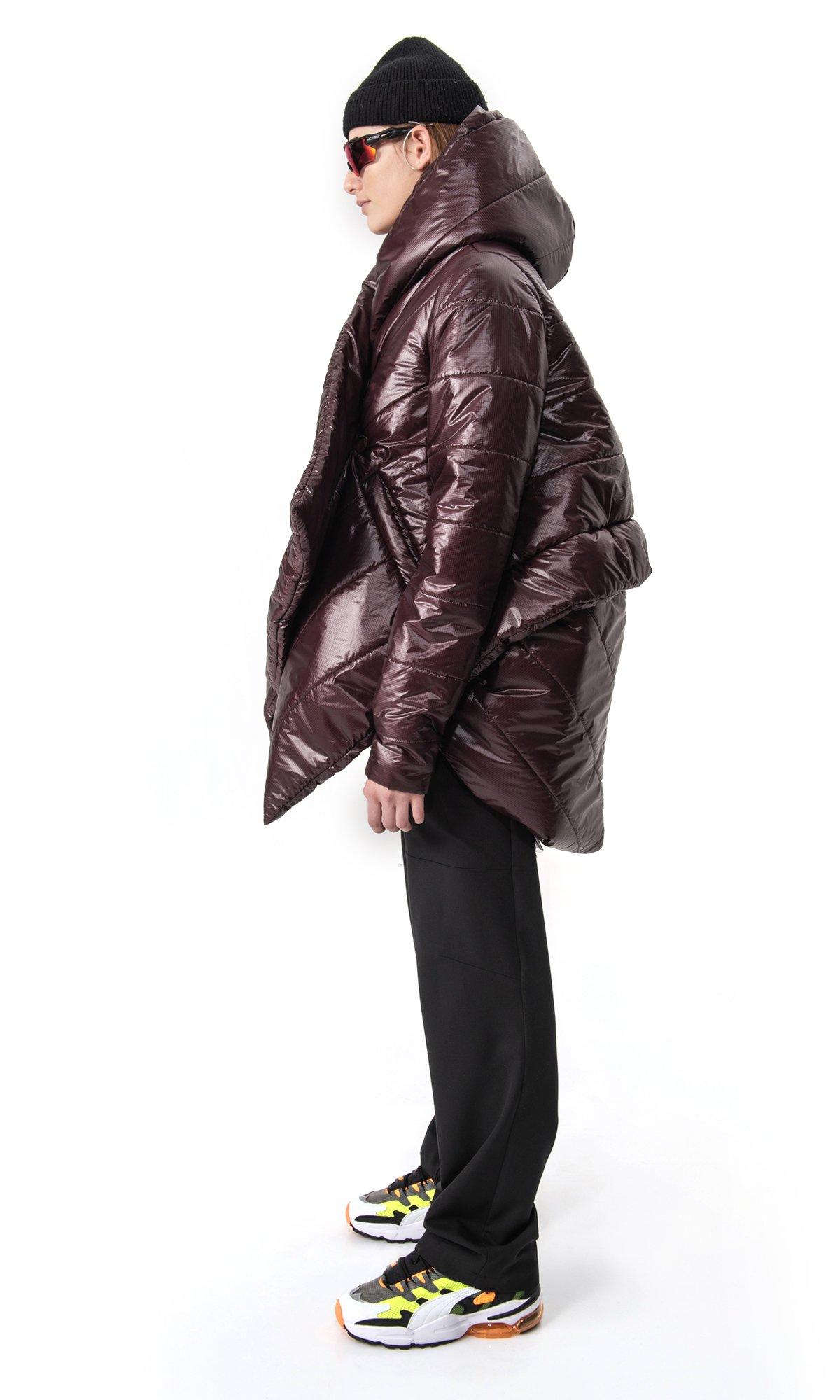 Extra Warm Asymmetric Hooded Coat