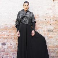 Extravagant Short Black Genuine Leather Jacket A20354