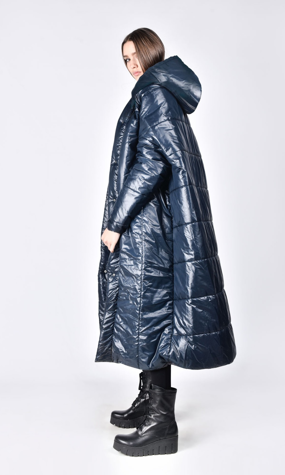Oversize quilted maxi jacket A20672
