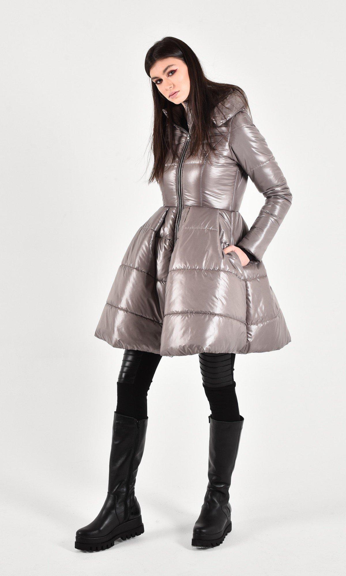 Beautiful peplum winter jacket A20210