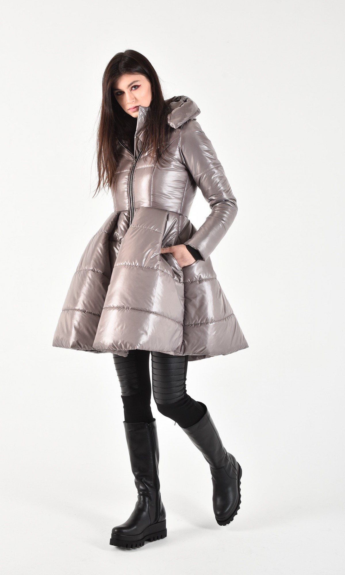 Beautiful peplum winter jacket A20210