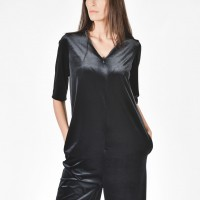 Mini  Zipper Velvet Jumpsuit A19630
