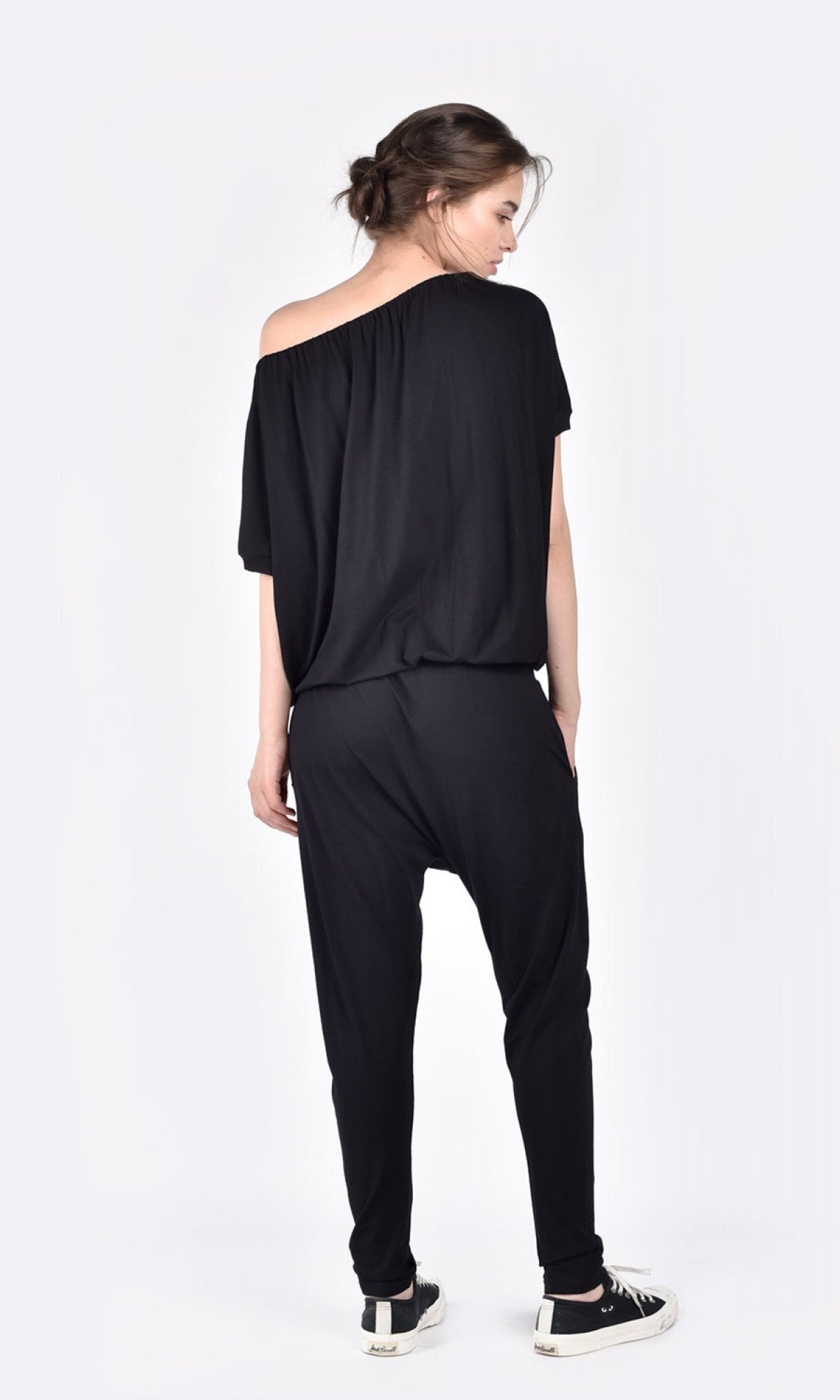 Sliding Shoulder Jumpsuit A19648