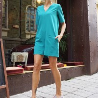 Jumpsuits - Mini Zipper Jumpsuit A19308