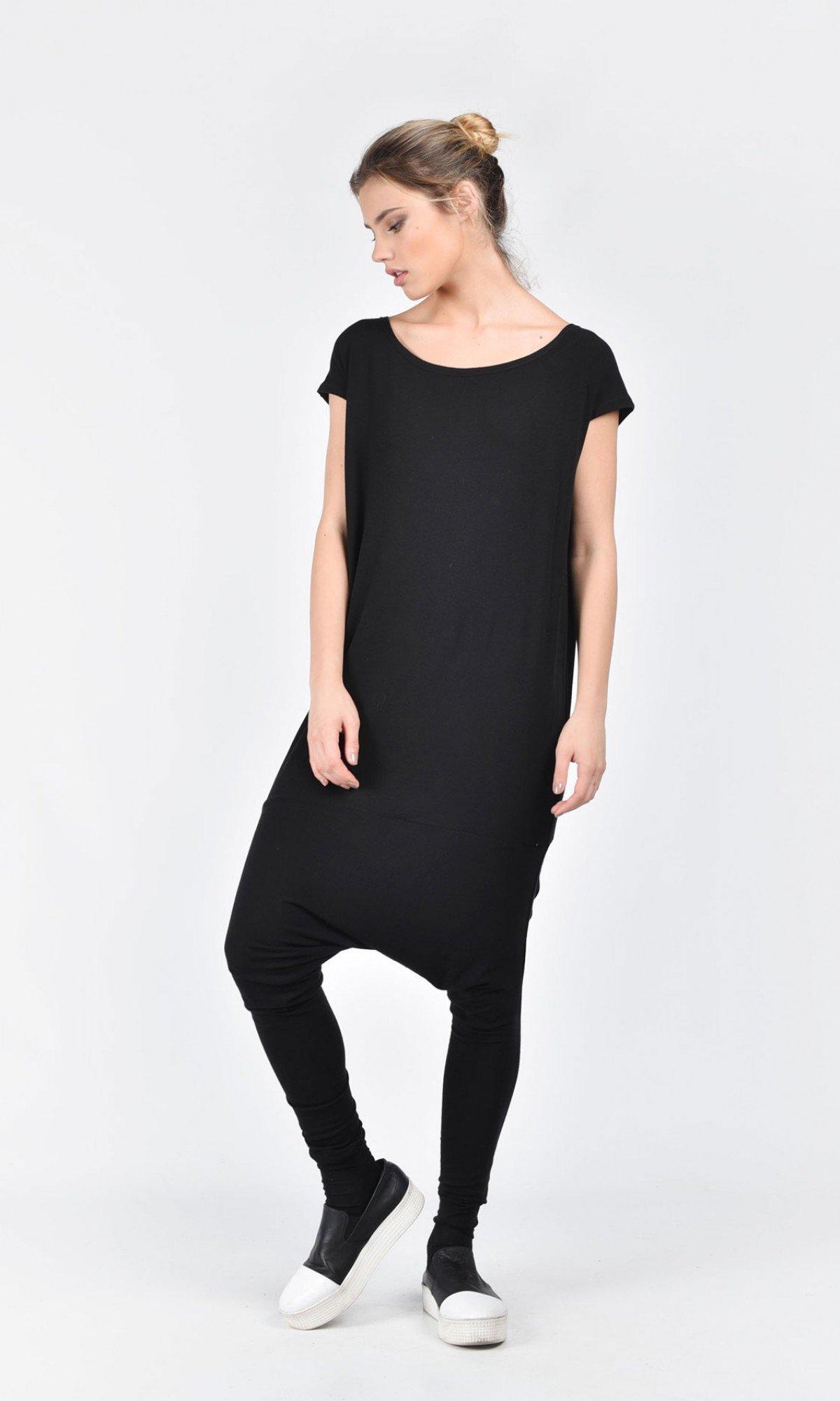 Black Tencel Jumpsuit A19363