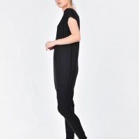 Black Tencel Jumpsuit A19363