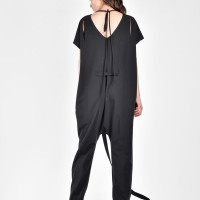 Drop Crotch Jumpsuit with a Belt A19622