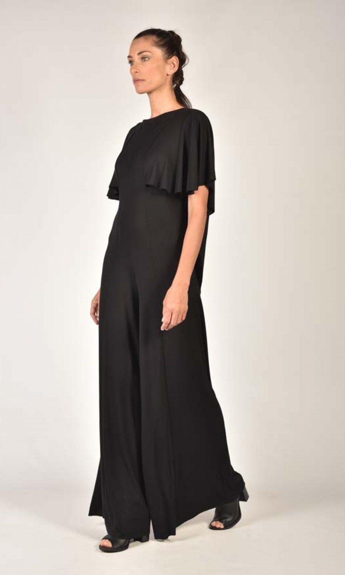 Wide-leg Jumpsuit with Open Back