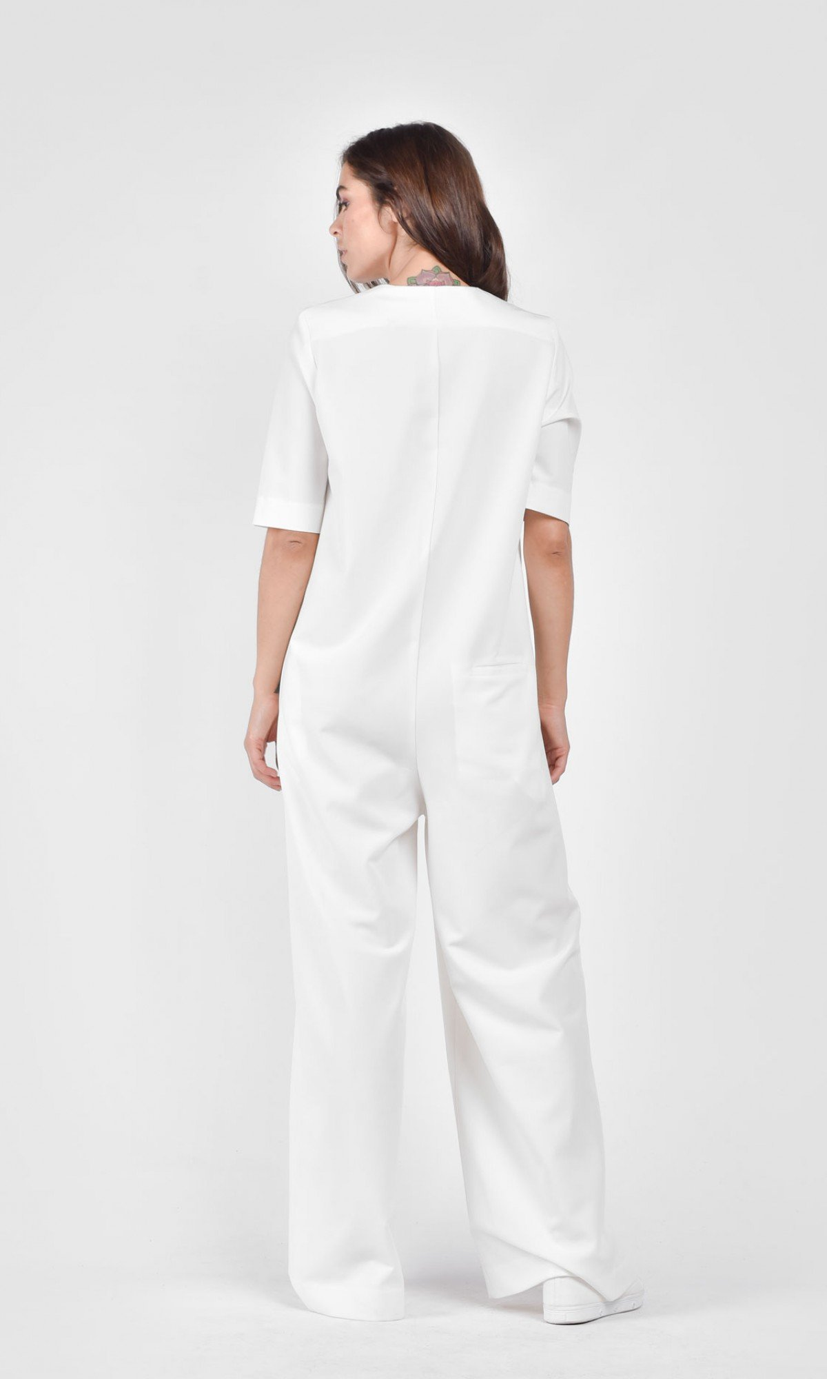 Short Sleeve Poly viscose Jumpsuit A90218