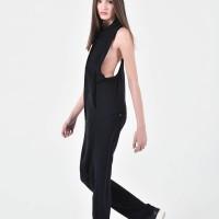 Elegant Open Back Cotton jumpsuit A19733