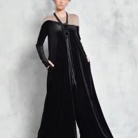 Elegant Long Sleeve Velvet Jumpsuit A90438