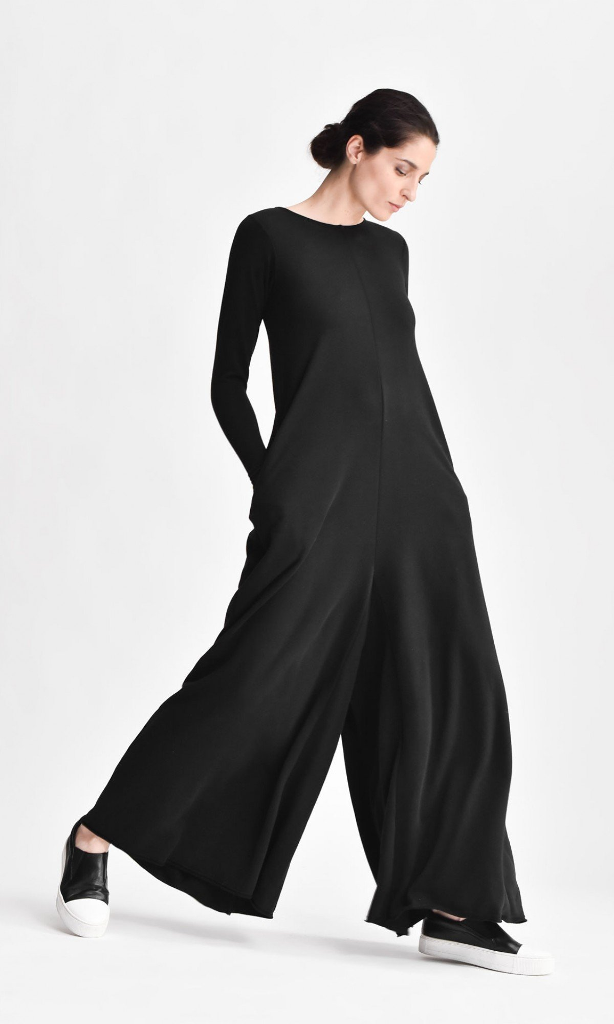 Wide Leg Maxi Cotton Jumpsuit A19517