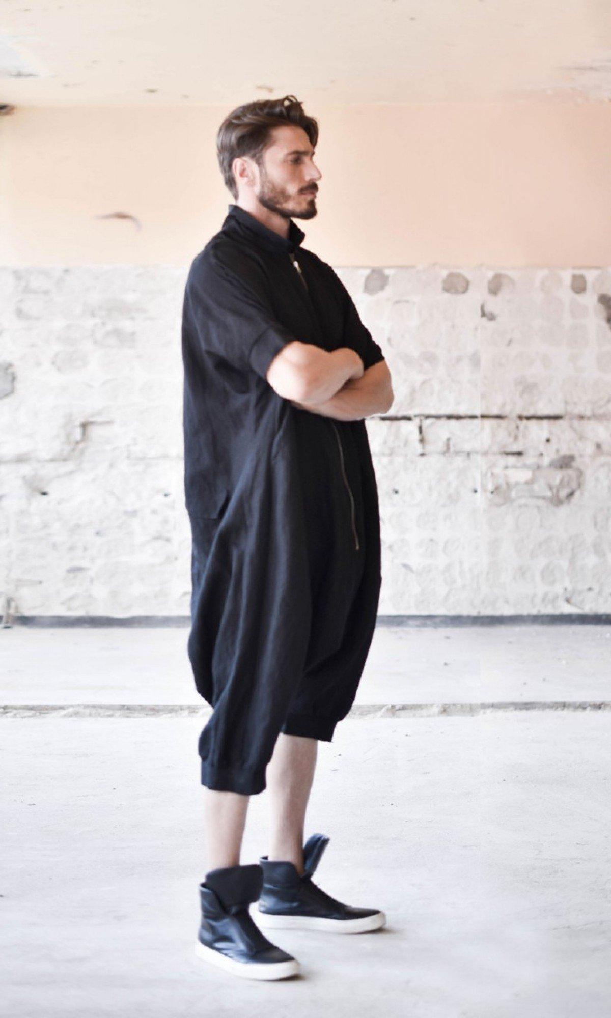 Loose Linen Maxi Jumpsuit A90042M
