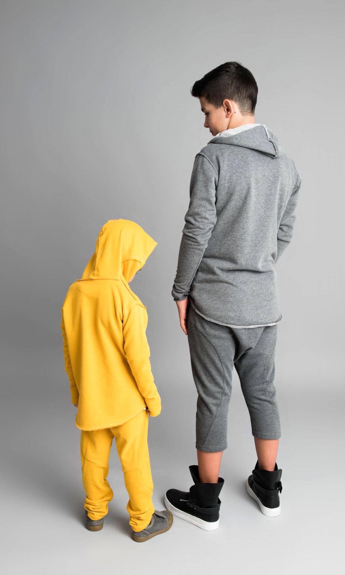 Asymmetric Front Pocket Cotton Hoodie A08533C