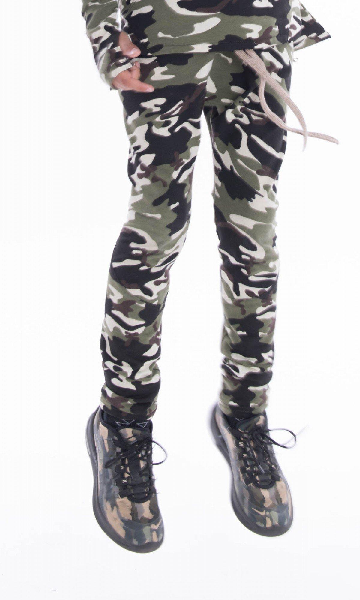 Long drop crotch pants with zipper pockets A05240C