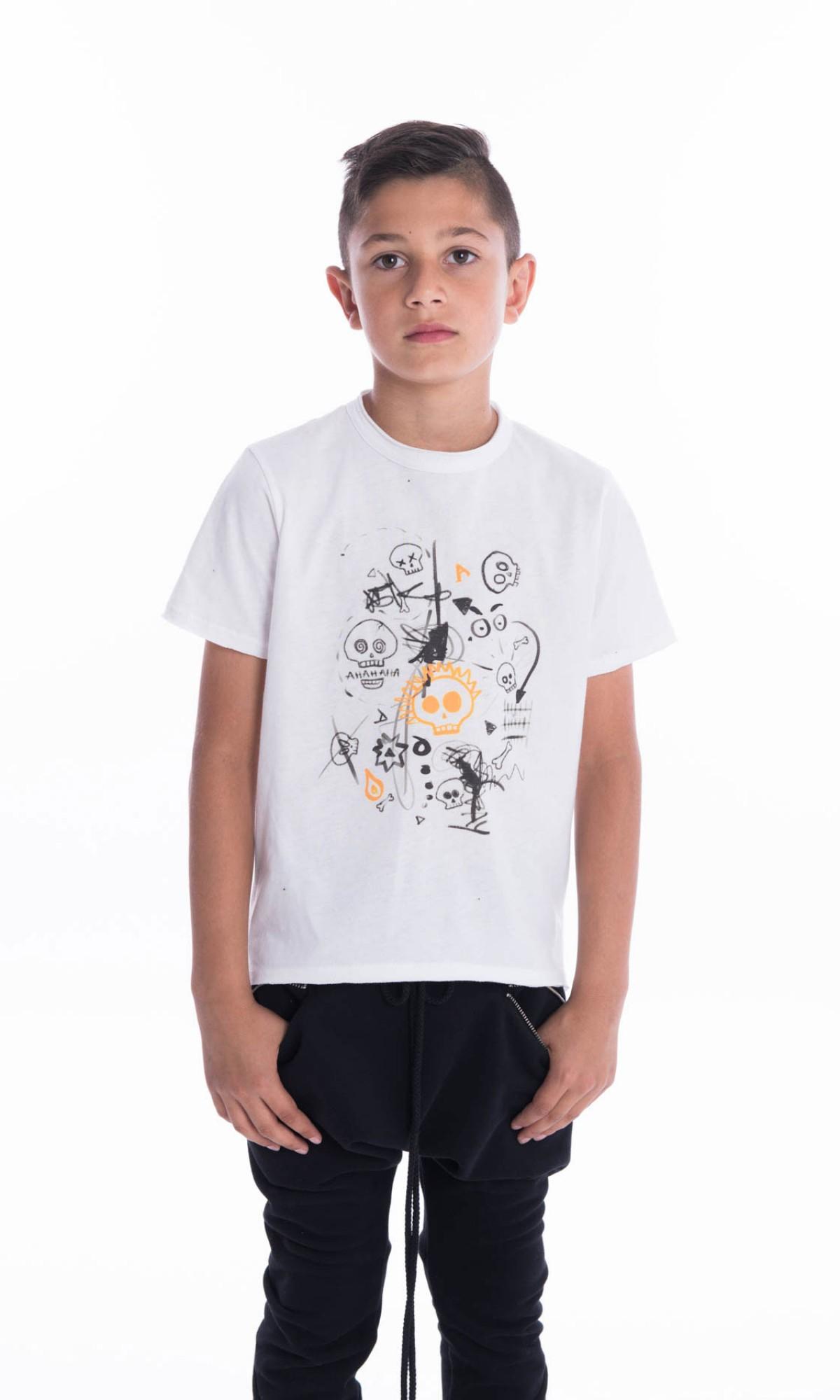 Cute Skulls Print T-shirt A90386C