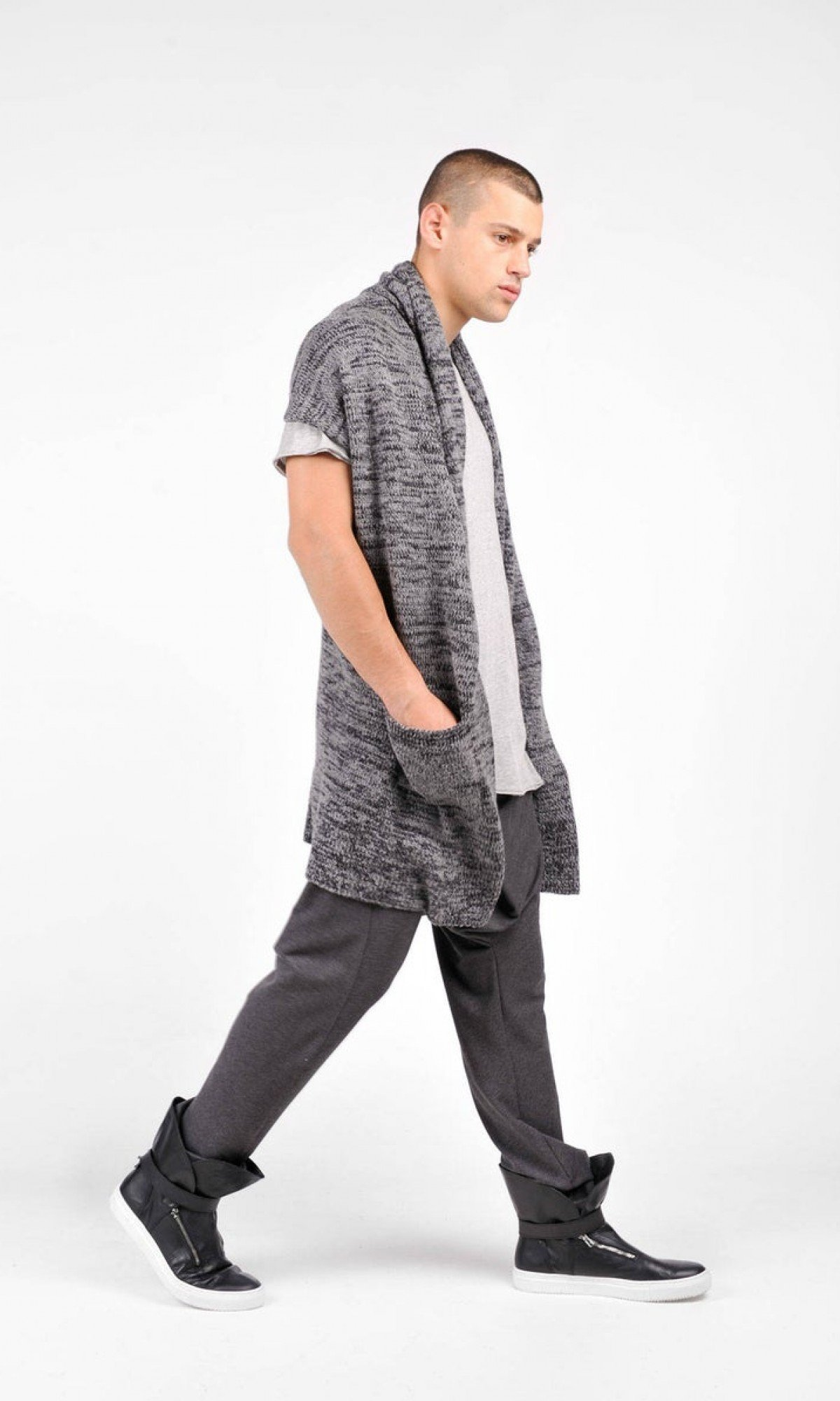 Warm Long Knitted Vest
