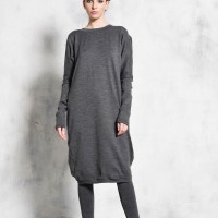 Asymmetric Black Knit Tunic A02059