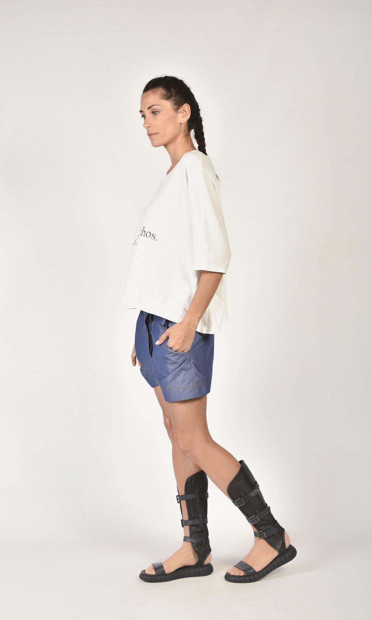 Denim Drop Crotch Shorts A05421