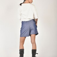 Denim Drop Crotch Shorts A05421