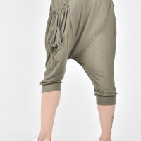 Mid Lenght Overlapping Drop Crotch Pants A05587