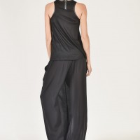Asymmetric Wide Leg Skirt Pants A90048
