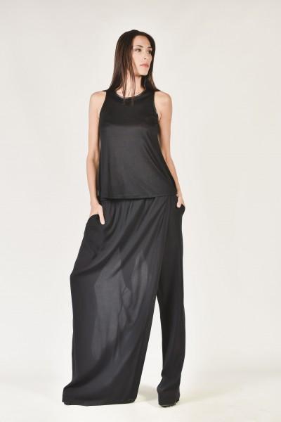 Asymmetric Wide Leg Skirt Pants A90048