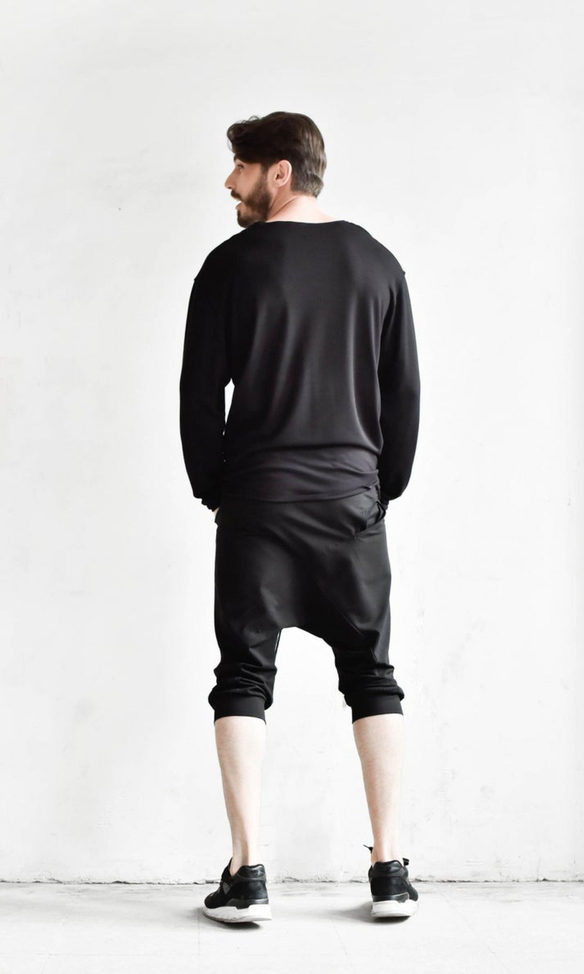 Loose Casual 3/4 Jogger Pants A90548M